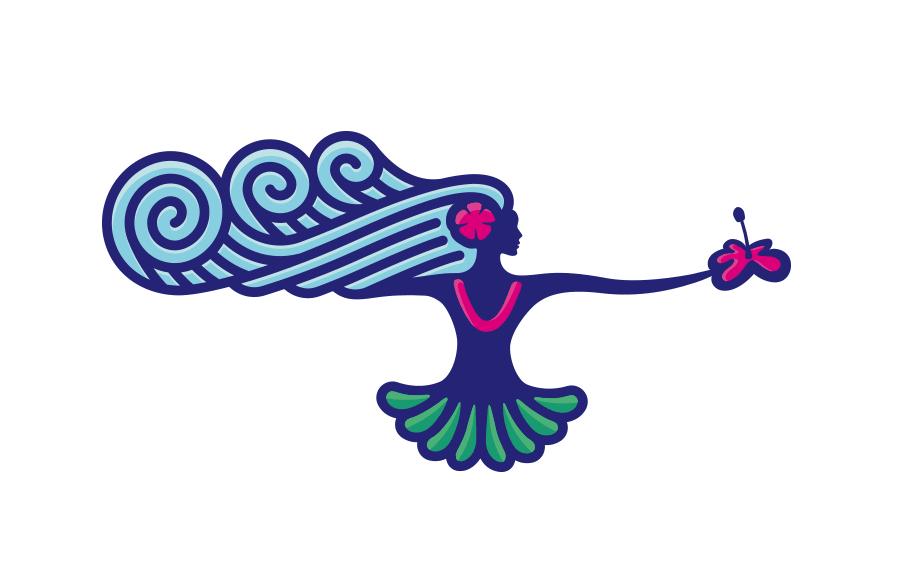 Nevyužitý koncept loga pro Havajský portál nabízející túry a jiné zážitky.