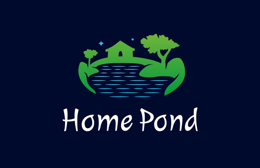 Tvorba loga pro společnost Home Pond, která se zaměřuje na vše kolem vody a zejména na zahradní jezírka a rybníčky a na vývoj a výrobu přípravků do těchto jezírek a rybníčků.