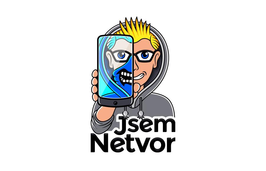 Logo pro videokurz Jsem Netvor (www.jsemnetvor.cz) pro žáky 8. a 9. tříd od Národního úřadu pro kybernetickou a informační bezpečnost. Postup tvorby: bit.ly/jsemnet