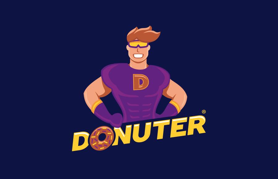 Tvorba loga pro frančízu Donuter