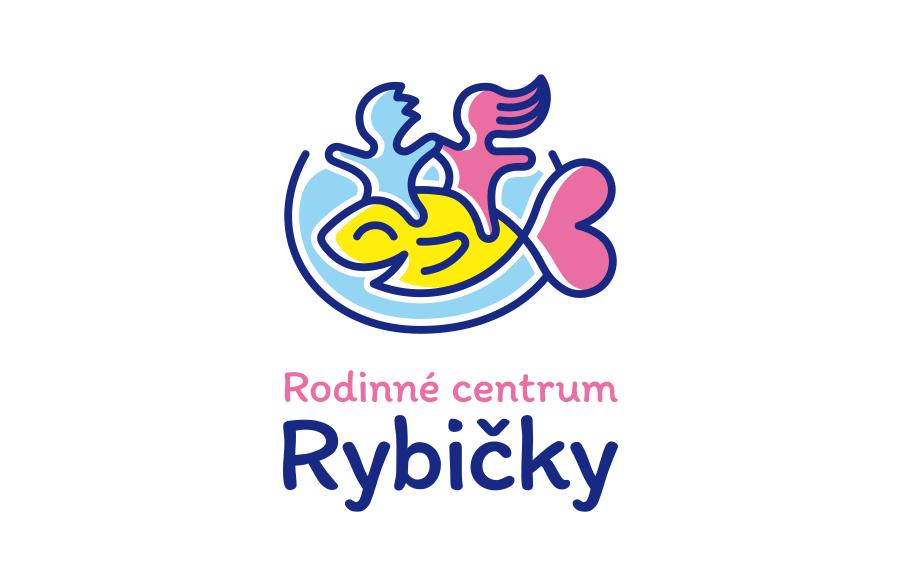 Logo pro Rodinné centrum Rybičky (rcrybicky.cz | OC Blatov, Praha 9)